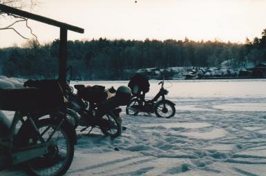 Stämningsbild på isen