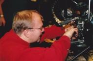 Klaba pillrar med växlar på meckaredagen 2003