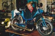 Klabas Compakt, hans första TM-moppe jan 2003