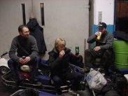 Johan, Stina och Dappe på moppetävling